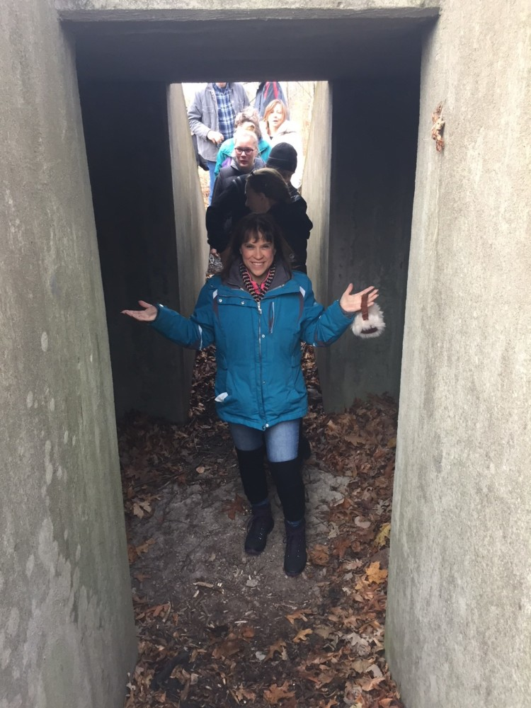 A quick bomb shelter to dive in for the troops while on a White Deer of New York tour.