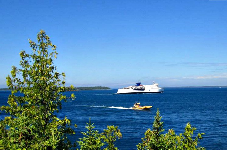 Chi-Cheemaun Ferry to Manitoulin Island became a symbol of village of Tobermory, Ontario.