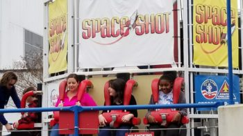 Space Shot is outdoors so be sure to bring a coat, sweater or umbrella to the US Space and Rocket Center depending on the season.