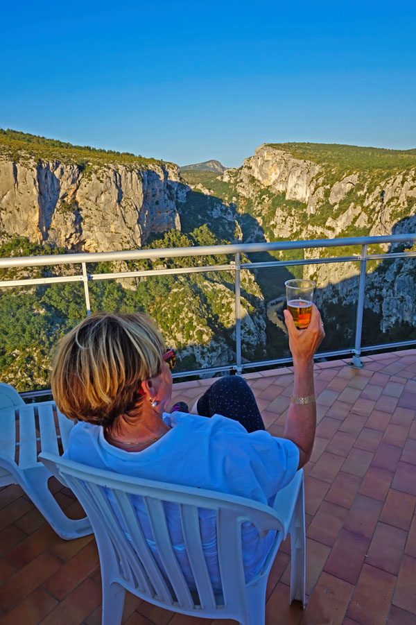 Waiting for the sunset at Hotel Grand Canyon du Verdon in France.