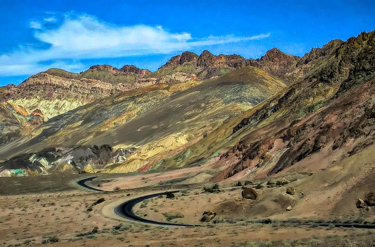 Artist Drive -one of a few attractions of Death Valley National Park that can be enjoyed from the car.