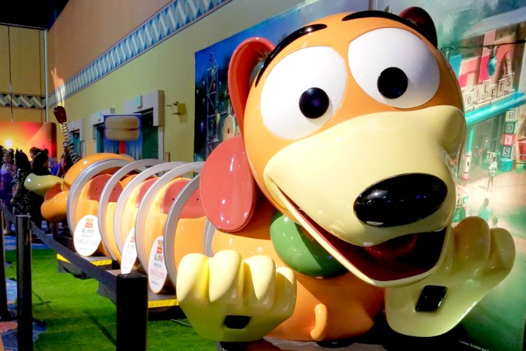 After the Toy Story Land opening, you'll be able to ride Slinky Dog around a roller coaster track.