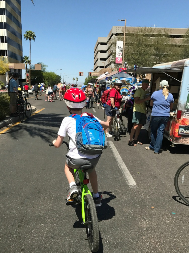 Cyclovia is an amazing family-friendly event and one of the things to do in tucson with kids