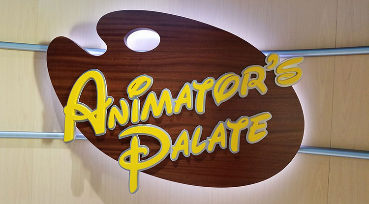Of our Disney Cruise dining tips enjoying interactive activities at Animator's Palate tops the list.