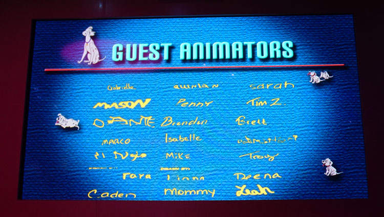 Disney Cruise Dining Tips include fun at Animator's Palate.