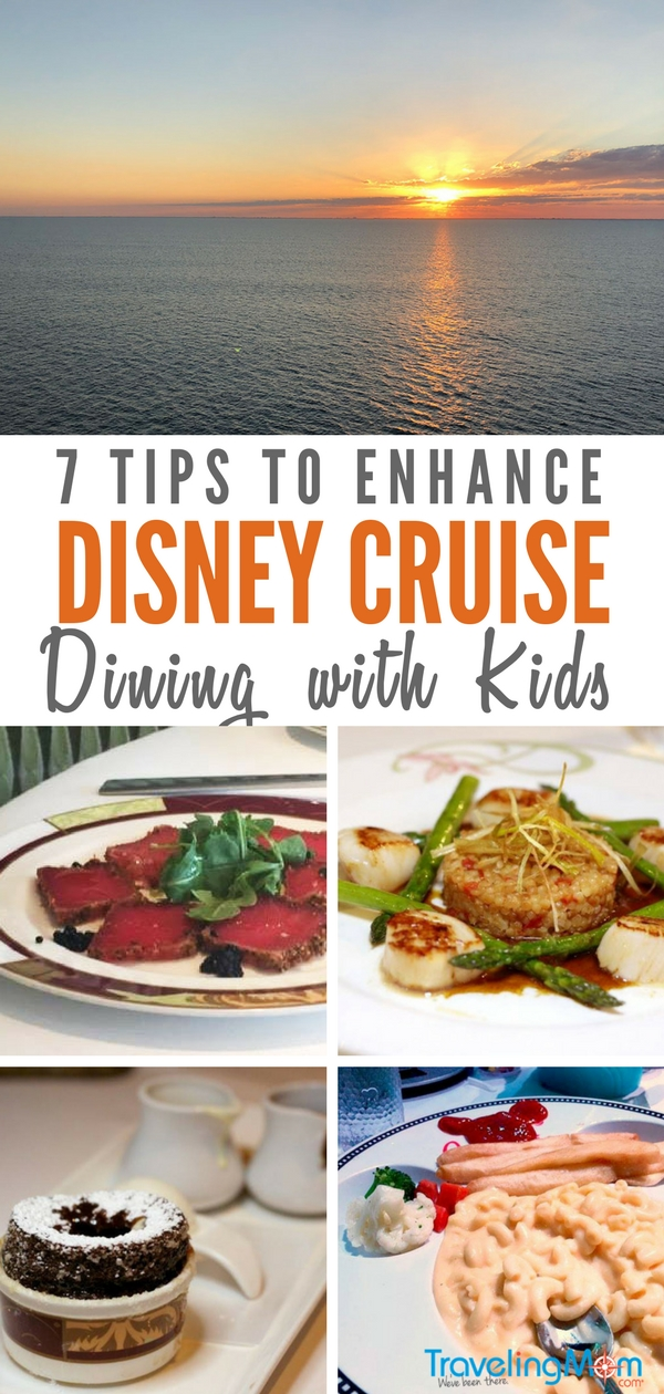 Disney Cruise Line has an incredible array of restaurants. Hear our tips from signing up to that early seating to which restaurants and dining experiences are not-to-miss. #DisneyCruise #DisneyFantasy #DisneyDining #AnimatorsPalate