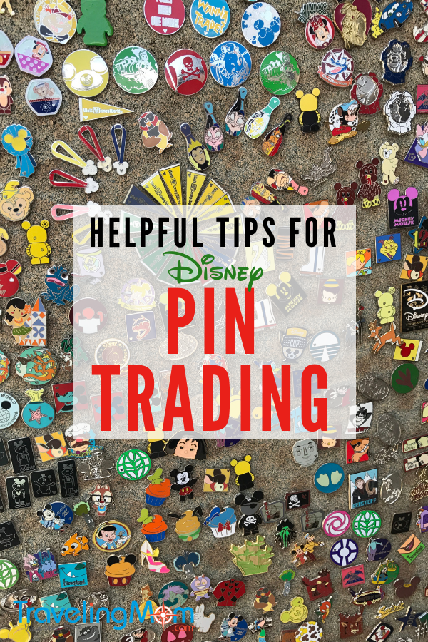 board of assorted Disney pins to trade