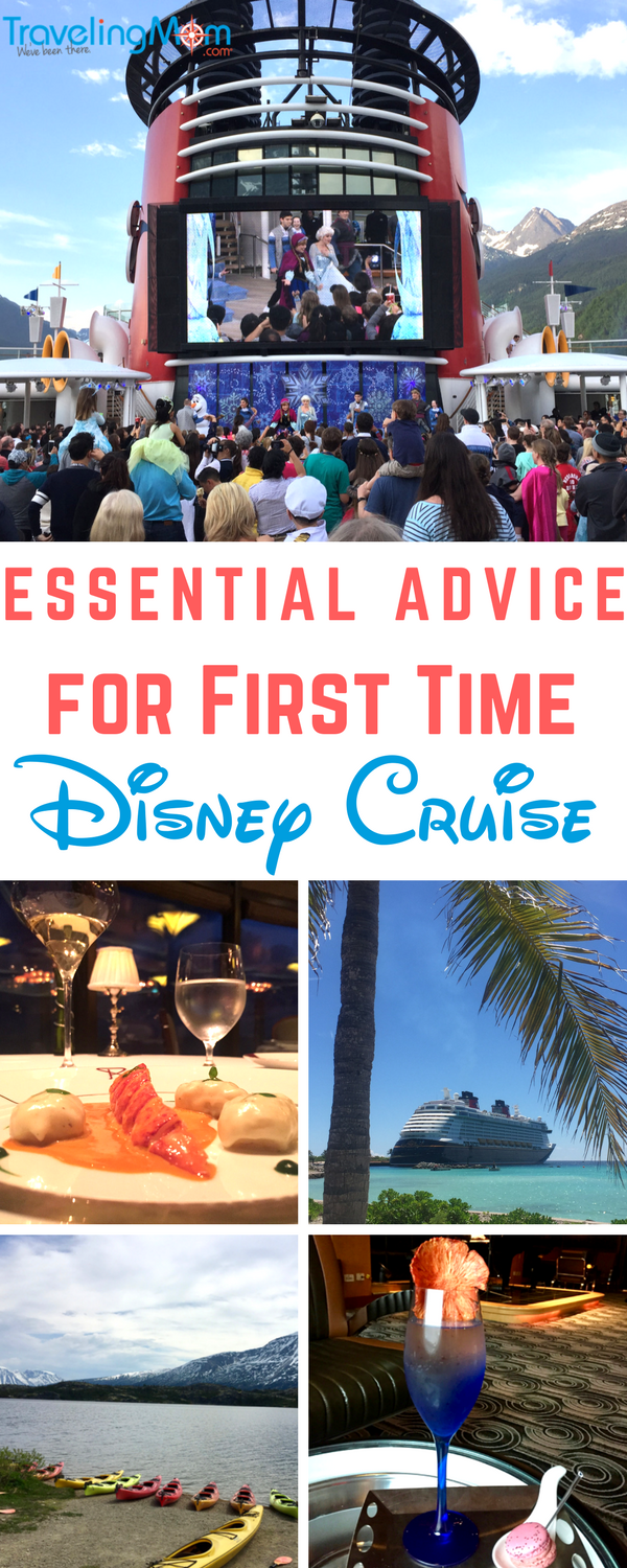 Disney Cruise advice for first time cruisers | A Disney cruise doesn't have to be stressful or overprogrammed, but it does pay for first timer cruisers to plan ahead and do their homework. Sharing our tried and true essential tips from planning dining reservations & excursions, what to sneak in and try at the kids club, and what to download before sailing. Sure to make the cruise pixie dusted!