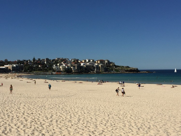 The perfect beach for a family vacation in Australia: Bondi Beach.
