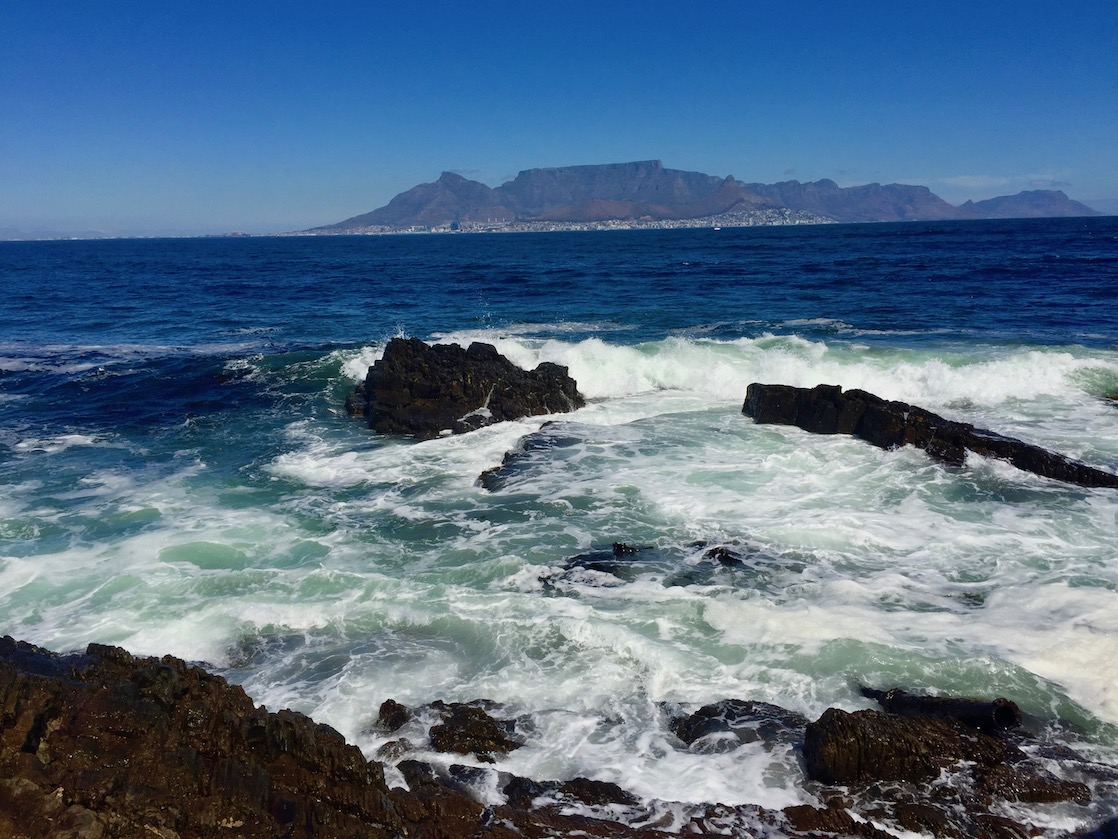 Cape Town as seen from the rocky shore of Mandela's Robben Island prison. Each museum tells a part of apartheid history in South Africa