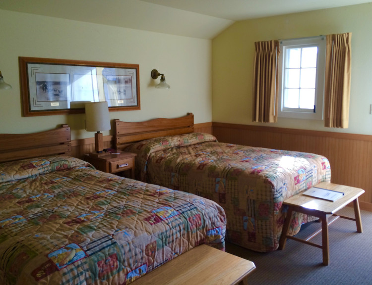 The interior of the Cabin at Lake Yellowstone Hotel. What to do near Yellowstone Lake with kids.