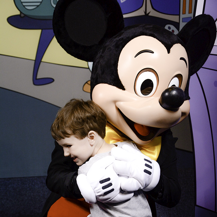 Visiting Mickey is always a fun activity to do if your child's scared of Magic Kingdom rides.