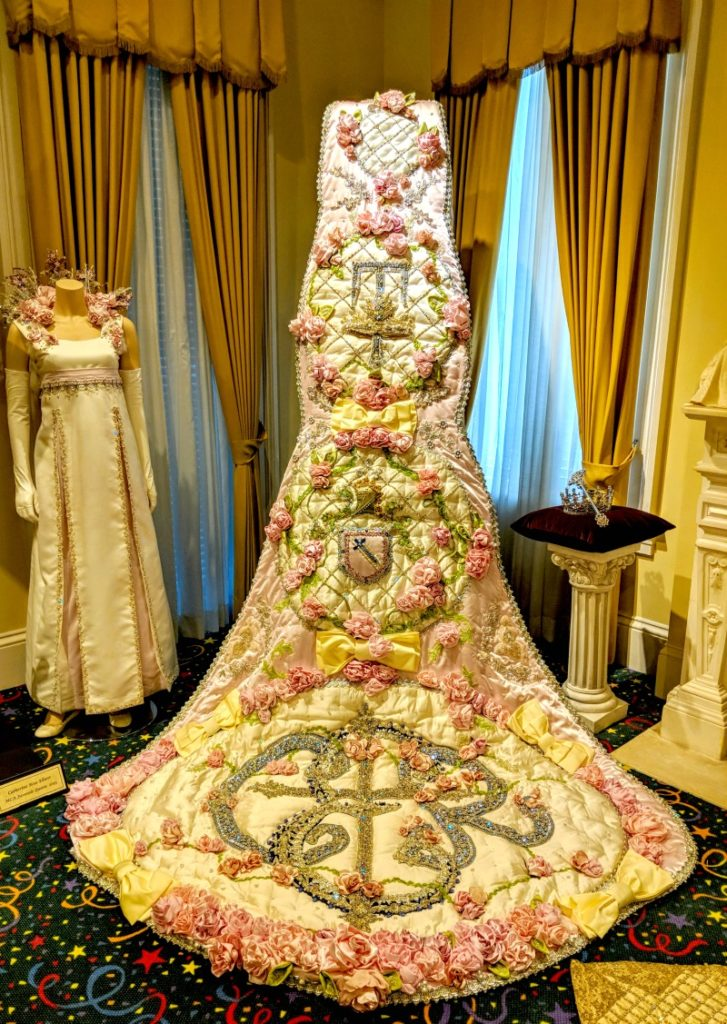 Mardis Gras started in Mobile Alabama and the queens of carnival wear these beautiful gowns, which can cost as much as $45,000 to make!