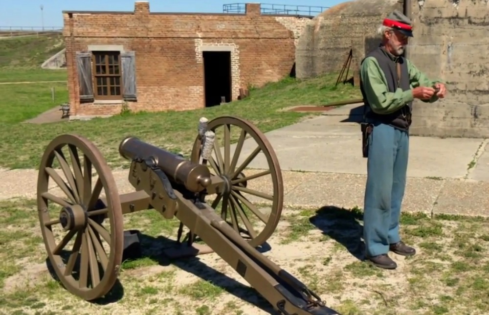 Things to do in Mobile Alabama - watch them fire the cannon at Fort Gaines on Dauphin Island.