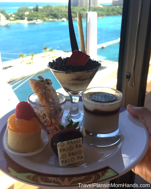 Disney Cruise advice for first time cruisers | Palo brunch for grown-ups is a must do, especially with a dessert buffet like this.