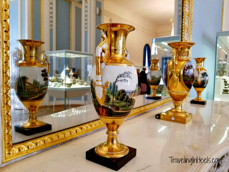 Check bucket list destinations off your list such as Regent Seven Seas shore excursions to Faberge Museum St. Petersburg. Russia.
