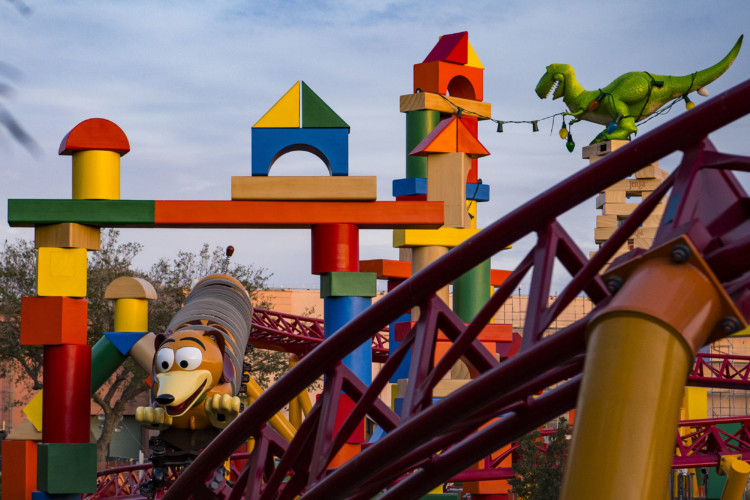 The Slinky Dog Roller Coaster will be a big attraction in Hollywood Studios.