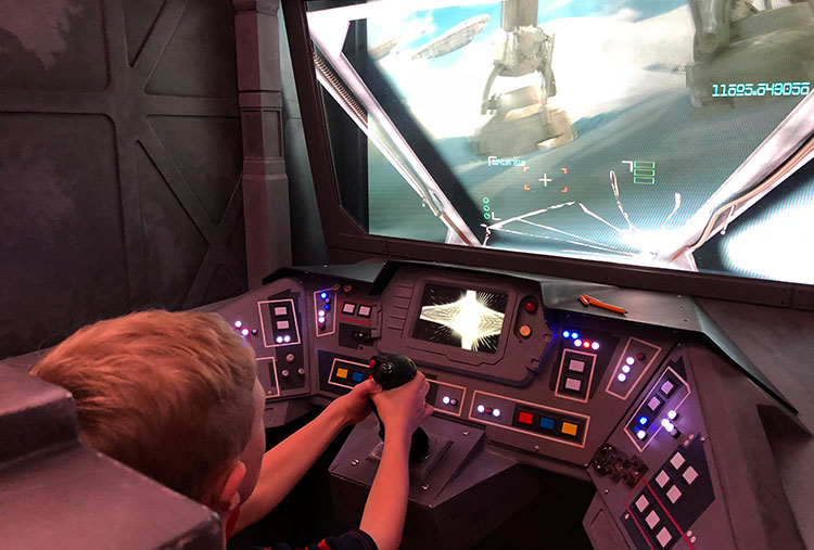 Piloting the Millenium Falcon at Star Wars Day at Sea.