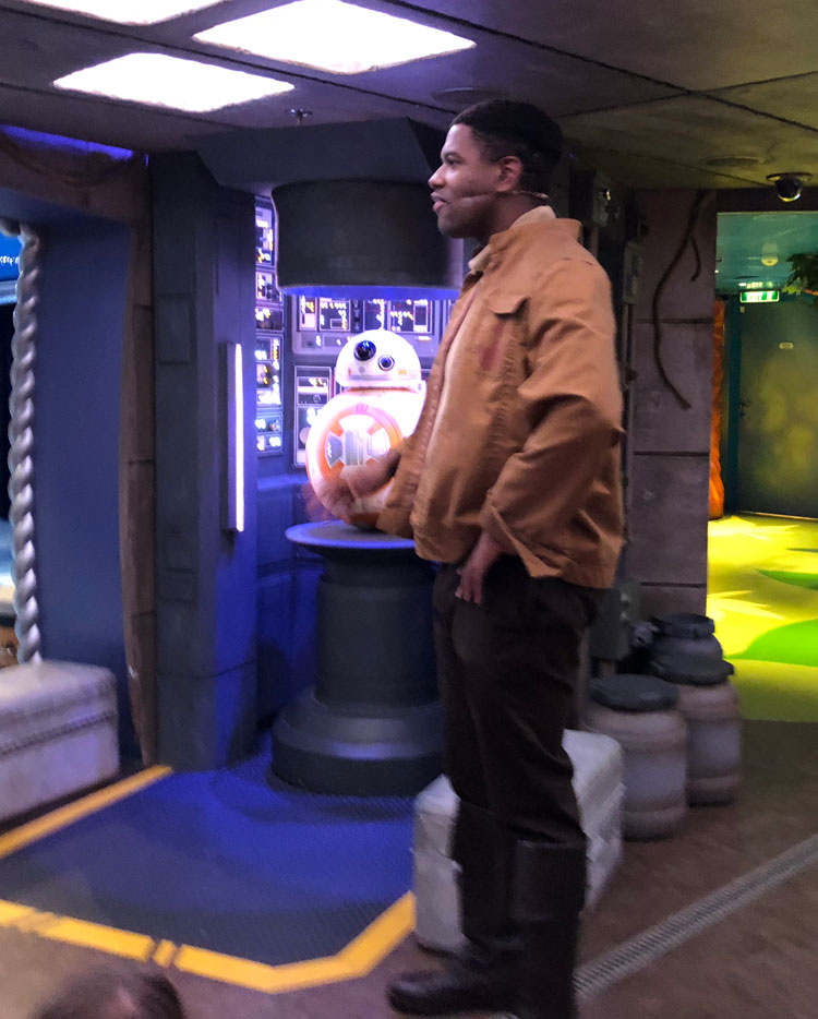 Meeting BB-8 was a highlight of the Star Wars Day at Sea.