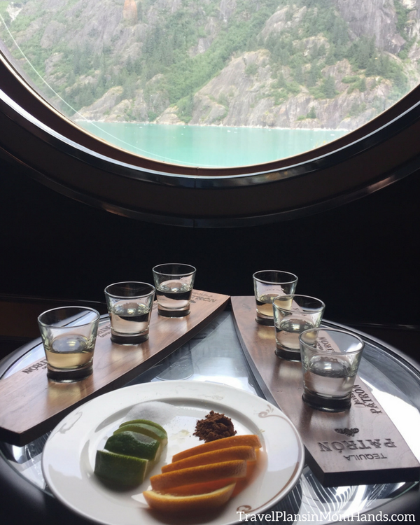Disney Cruise advice for first time cruisers | The tequila tasting on the Disney Wonder in Alaska has wondrous views!