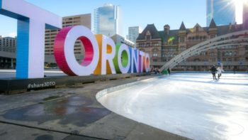 A trip to Nathan Phillips Square in Toronto is a must in winter!