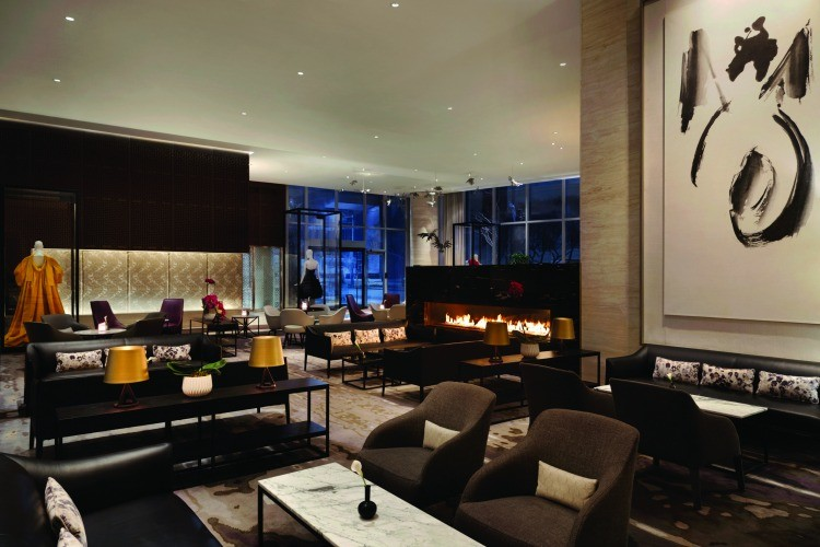 The Shangri-La, a good choice for lodging when visiting Toronto in winter with kids.