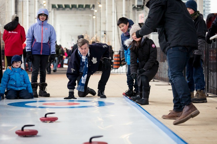 Kids may very well have a new fave sport - curling when they visit Toronto in winter.