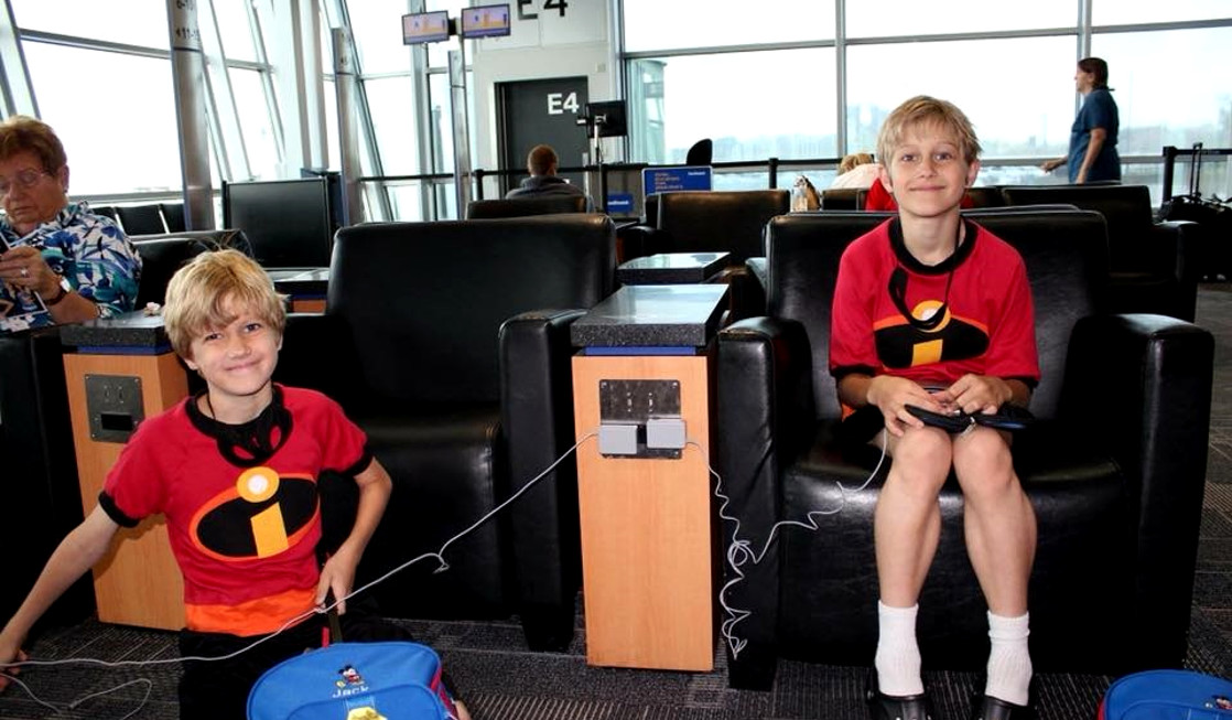 Charging electronics in an airport is an important tween traveling tip.