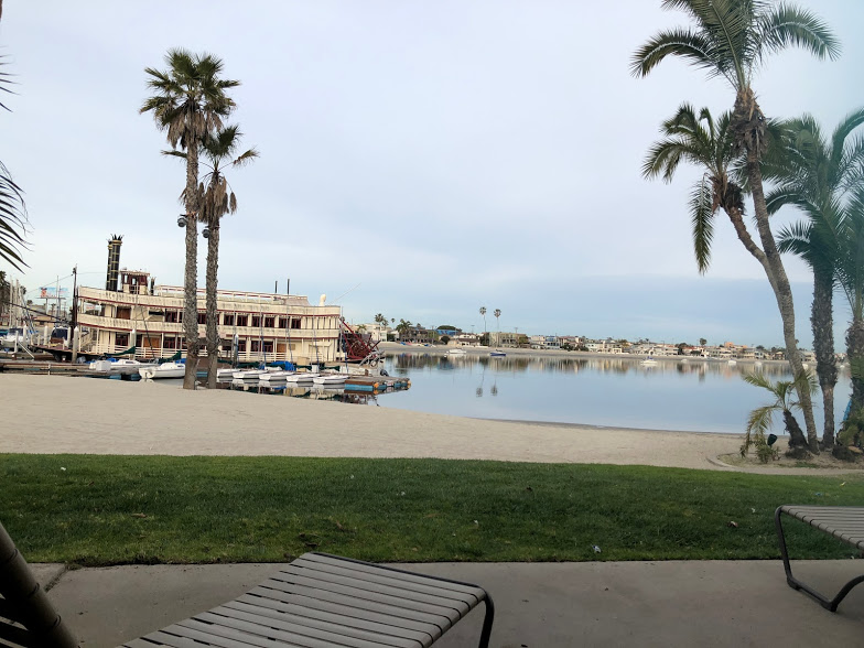 The view at the Bahia Resort during our California Spring Break