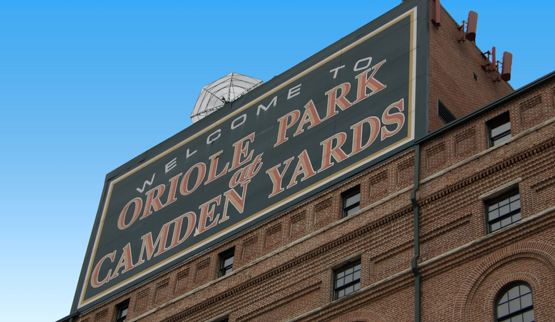 camden yards facade baltimore, maryland