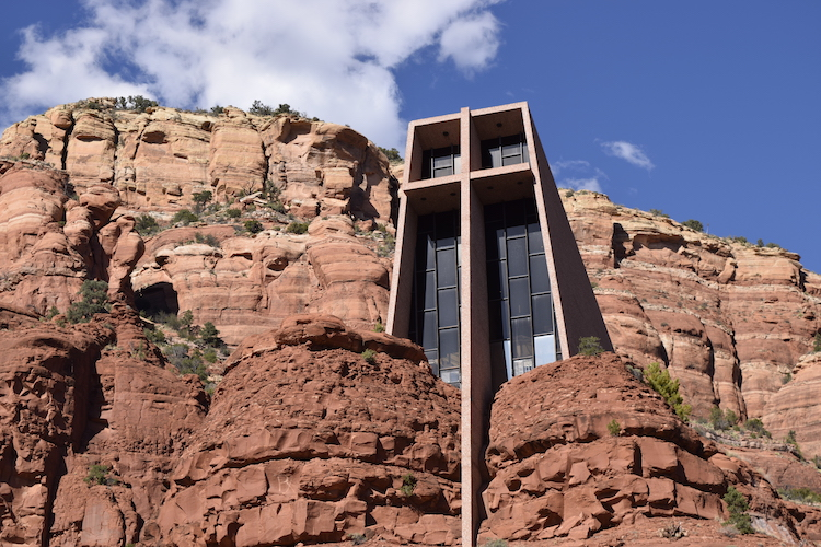 Visiting the Chapel of the Holy Cross is one of many free things to do in Sedona Arizona