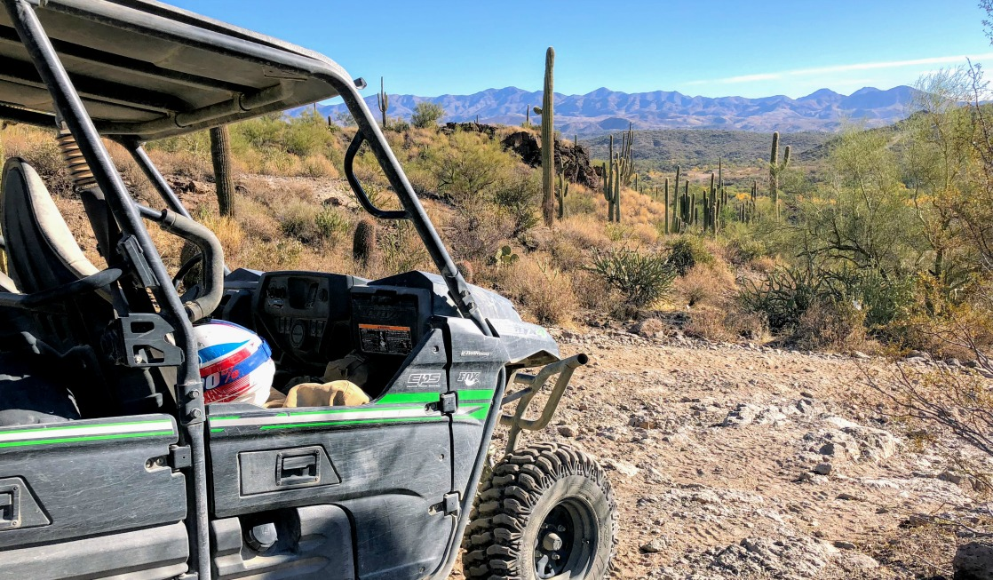 utv in desert is 1 of 7 Fun Things to Do in Phoenix, Arizona.