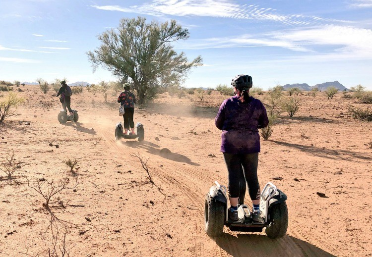 1 of 7 fun adventures is a desert Segway tour in Phoenix AZ