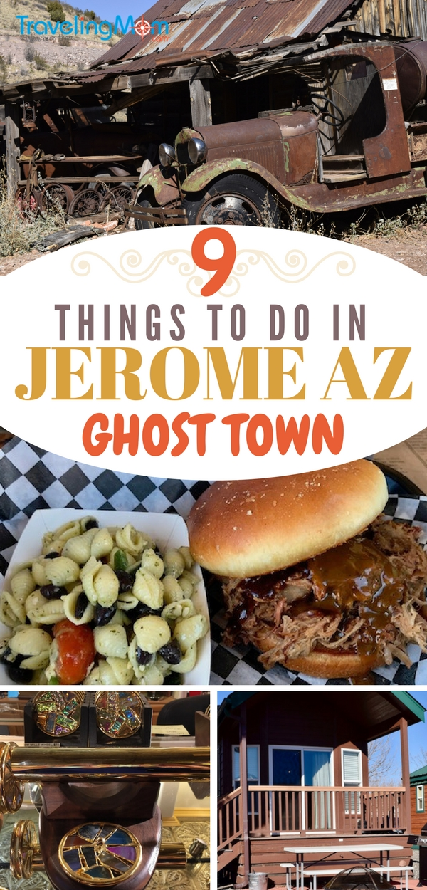 Jerome is a ghost town worth exploring. Located in Arizona's Verde Valley near Cottonwood and Sedona, it has a rich mining history, a racy past and the world's largest kaleidoscope store!