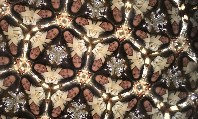 Kaleidoscope selfie from Jerome AZ - TravelingMom
