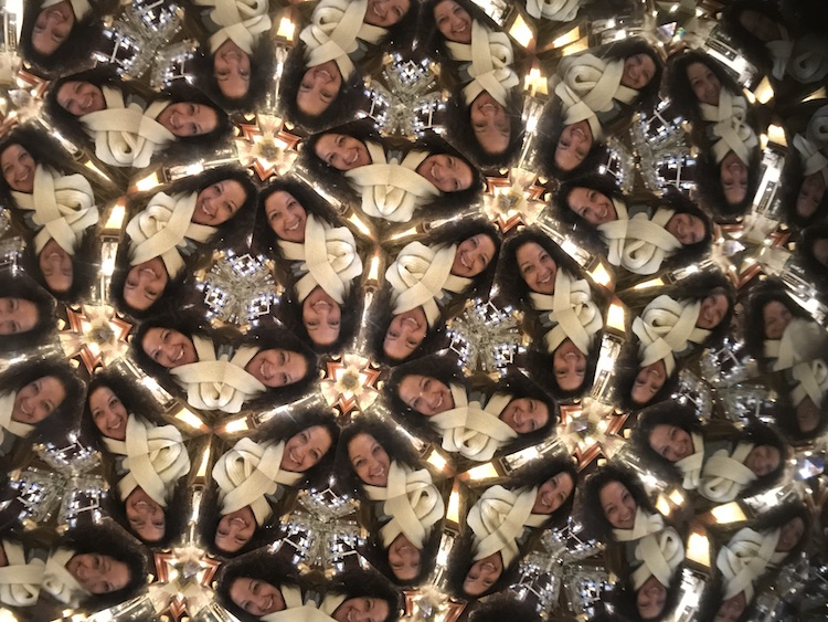 kaleidoscope selfie taken at Nellie Bly in ghost town Jerome AZ