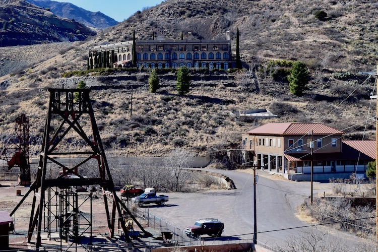 Audrey Headframe and mine shaft in Jerome AZ - TravelingMom