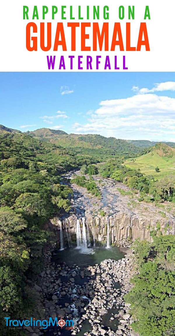 Rappelling at Los Amates a Guatemala Waterfall - Adventure tour