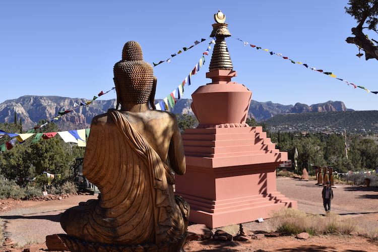Free things to do in Sedona Arizona include visiting the Amitabha Stupa and Peace Park