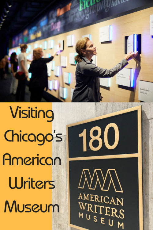 The American Writers Museum, is on the second floor of a Michigan Avenue office building in Chicago.