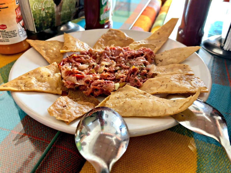 During the Vallarta Food Tours, we sampled the best ceviche of my life, and in the same restaurant, a magnificent smoked mackerel dip.