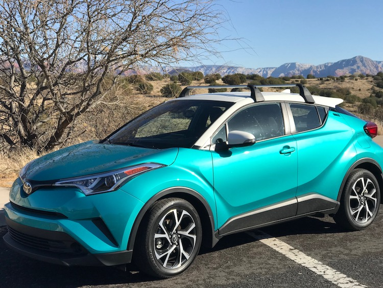 A Toyota C-HR in Red Rocks Country
