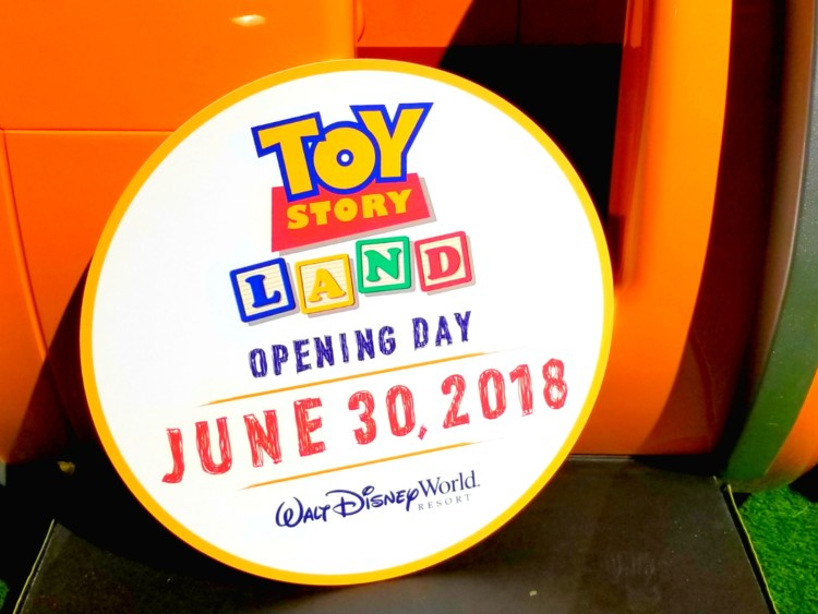 It was recently announced that the Toy Story Land opening would be June 30th.