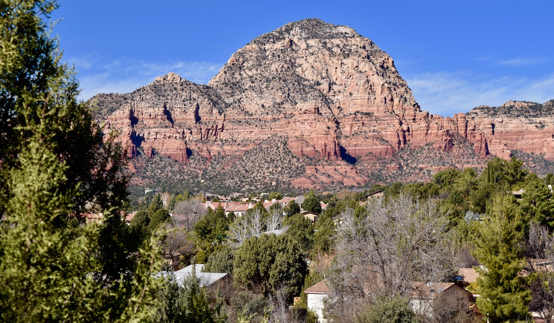 Enjoying the view at Sunset Park is one of many free things to do in Sedona.