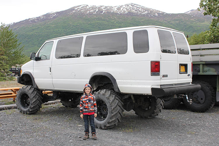 Big wheels and a bumpy ride in Anchorage, Alaska - one of the many fun things to do in Anchorage with kids.