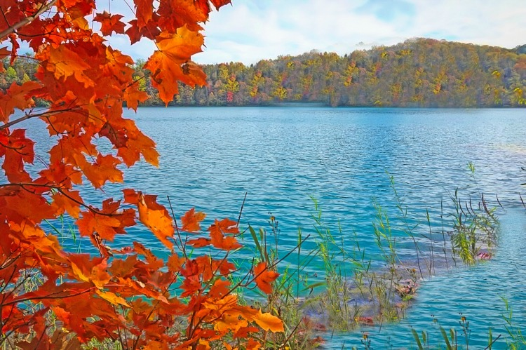 Discover magic of the fall at Green Lakes State Park, NY.