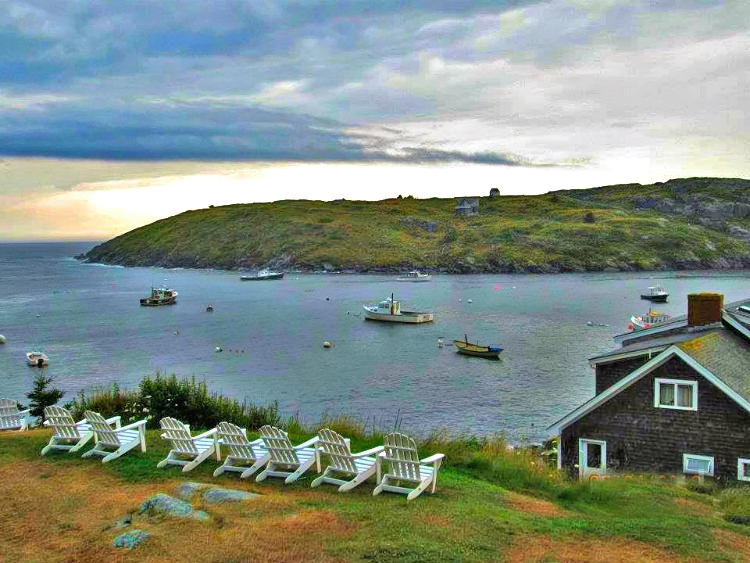 Take a front seat and watch the waves rolling in Monhegan Island, Maine.