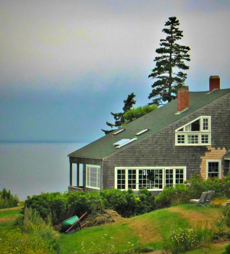 Even overcast looks charming in Monhegan Island, Maine.