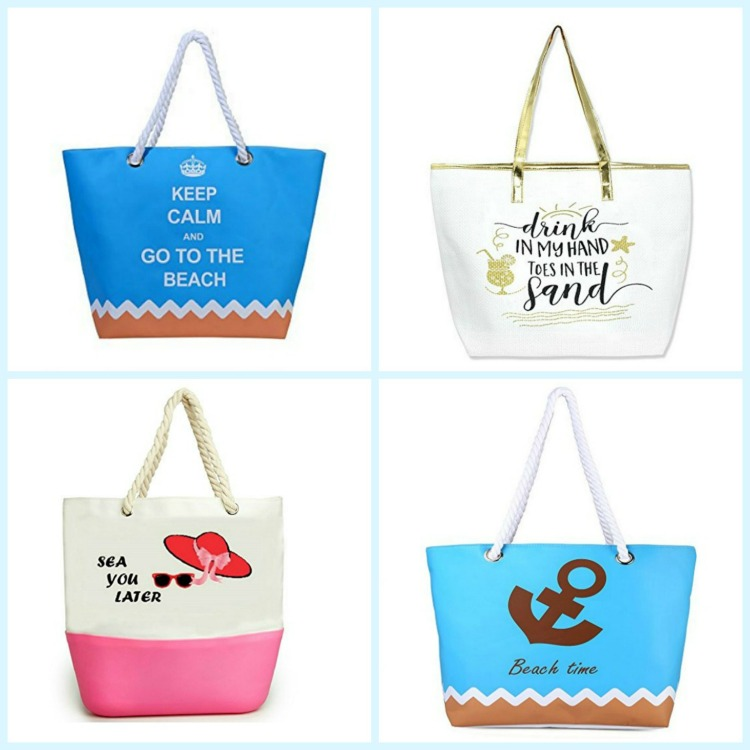 These beach bags with fun quotes are perfect for any beach vacation. Photo Credit: Amazon