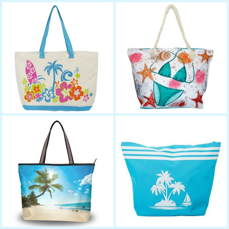 These tropical beach bags are a great choice for your beach vacation. Photo Credit: Amazon